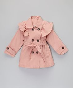 Take a look at the Pink Ruffle Swing Trench - Toddler & Girls on #zulily today!
