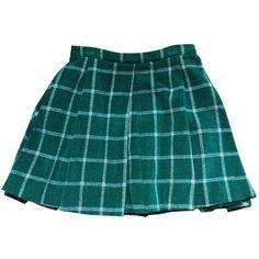 Pre-owned Kenzo Short Skirt ($98) ❤ liked on Polyvore featuring skirts, green, kenzo, blue skirt, blue green skirt and green skirt