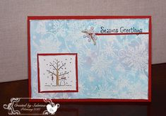 Swirling Snowflakes using Stampin Up A Tree for All Seasons retired stamp set