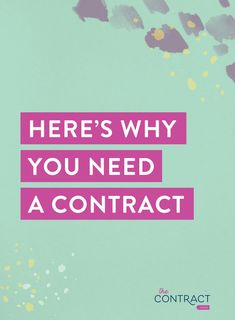Confused by the legal parts of running a small business? As a lawyer for creative small businesses and entrepreneurs, I'm sharing WHY you need a contract, how to use it, and where to find one (affiliate link) Starting A Business, Business Planning, Business Tips, Online Business, Business Coaching, Etsy Business, Humor Legal, Business Organization, Business Entrepreneur