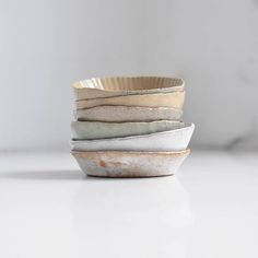 It's been such a beautiful day in east London and we spent this afternoon under the sun unloading a new shipment of stoneware. We're really excited about a few new pieces received, as well as some old favourites such as our pie and tart moulds. Here's a little snap of them in a selection of earthy glazes!
