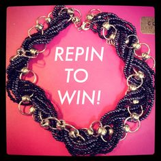 ONE HOUR! 10 REPINS! NEED 10 TO GIVEAWAY THIS NECKLACE!