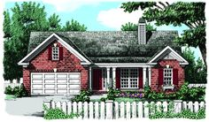 House Plans Country House Plan with 1080 Square Feet and 3 Bedrooms from Dream Home Source House Plans One Story, Ranch House Plans, Craftsman House Plans, Best House Plans, Modern House Plans, Small House Plans, House Floor Plans, Country House Design, Country Style House Plans