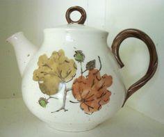 Metlox Poppytrail Teapot  Woodland Gold  Autumn by IcicleGarden