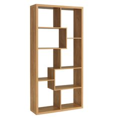 Display Shelving Unit Oak Veneer Wooden DVD Bookcase Storage Modern Furniture