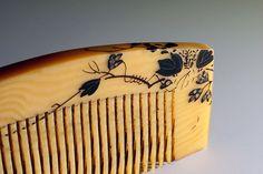 Japanese ivory comb