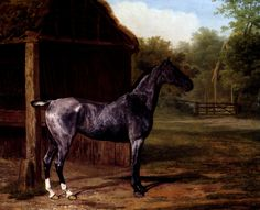 lord Rivers' Roan mare In A Landscape by Jacques-Laurent Agasse, Oil on canvas