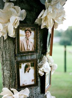 remembrance tree for those who couldn't be at the wedding with diy paper flowers #weddingideas #diy #weddingchicks http://www.weddingchicks.com/2014/03/13/homespun-antique-farm-wedding/