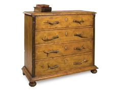 Shop for Sarreid Pine Chest Of Drawers, 22354, and other Bedroom Chests and Dressers at Weinberger's Furniture and Mattress Showcase in Georgia. Inspired by the simple lodge style popularized by Queen Victoria at her Scottish Highland estate, this chest is made of antique pine trimmed with hand carved pilasters and bun feet.