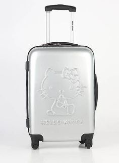 0ee8e78c1c9 Hello Kitty Travel Carry Luggage Bag Black Suitcase bags 20