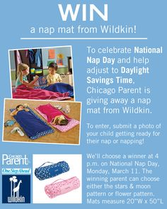 Enter our photo contest to win a nap mat, just in time for National Nap Day!