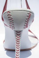 For the Love of the Game--a Pair of Baseball-Themed Stilettos