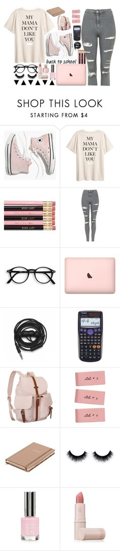 """Pretty in Pink"" by lollaskye ❤ liked on Polyvore featuring Madewell, Topshop, Urbanears, Casio, Herschel Supply Co., Kate Spade, Lipstick Queen and Guerlain"