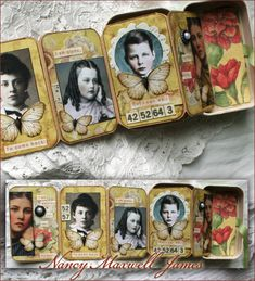 paperwhimsy.com » Blog Archive » Altered Poetry Tin Posted  what a brilliant idea for a family tree.. a set of boxes or suitcases ?