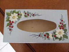 Boite à mouchoirs - Peinture sur bois                                                                                                                                                                                 Plus