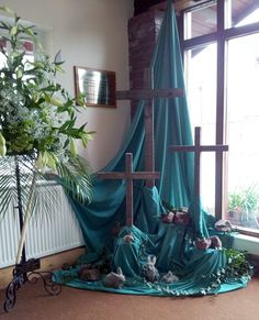 decorating a church for easter | Rector Paul spoke to the children about a range of Easter time symbols ...