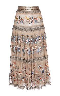 Embroidered Tulle Tiered Skirt by Etro for Preorder on Moda Operandi