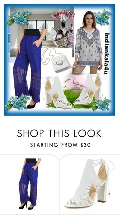 """INDIANKALA4U #7"" by nizaba-haskic ❤ liked on Polyvore featuring Alexandre Birman and Clinique"