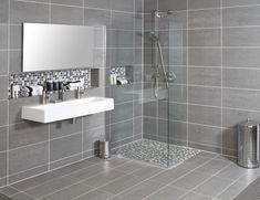 Sanitair Bathroom Tile Designs, Bathroom Ideas, Small Bathroom, Bathrooms, Corner Bathtub, Interior Styling, Design Trends, Sweet Home, New Homes