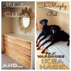 DIY Dog Beds - Side Murphy Dog Bed - Projects and Ideas for Large, Medium and Small Dogs. Cute and Easy No Sew Crafts for Your Pets. Pallet, Crate, PVC and End Table Dog Bed Tutorials http://diyjoy.com/diy-dog-beds