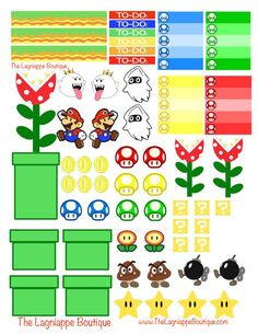 My second week of planner stickers are themed from Nintendo's Mario video game series.If you would like to know how I print my stickers, check out the post here . Below are two variations of my...
