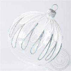 Boule de Noël en verre avec décor