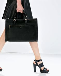 ZARA - SHOES & BAGS - OFFICE CITYBAG WITH ZIPS