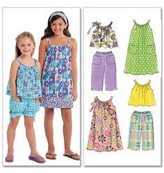 M5797 Girls' Summer Coordinates