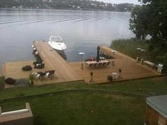 Lake Landscaping, Lake Dock, Clear Lake, Lake Cottage, Cabins In The Woods, Walkway, Outdoor Spaces, Backyard, Exterior