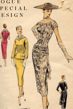 Vogue Special Design S4592 1950s Dress Pattern by GreyDogVintage, $65.00