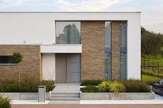 The modern dimension of the clinker - cityvilla Arch House, Up House, Facade House, Villa Design, House Design, Contemporary Architecture, Architecture Design, Facade Lighting, Exterior Design