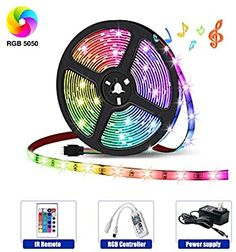 HaoDeng LED Light Strip RGB Strip Lights LED Tape Lights Compatible with Alexa and Google Home, Comes with 16.4ft IP65 5050 RGB 150 LEDs Smart WiFi Strip Lights, Remote Control by Phone - - Amazon.com Led Light Strips, Led Strip, Led Band, App Control, Works With Alexa, Wishing Well, Google Home, Strip Lighting, Smart Home