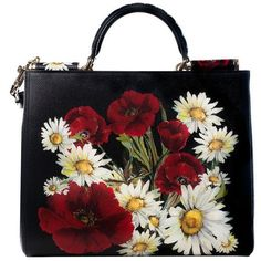 Pre-Owned Dolce & Gabbana Sicily Shopping Tote found on Polyvore featuring bags, handbags, tote bags, black, preowned handbags, dolce gabbana tote bags, shoulder strap purses, pre owned handbags and tote hand bags