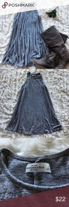 Abercrombie & Fitch Sweater Dress EUC! Stretchy and light. In a beautiful gray color. Super soft. Flowy design that's great for layering. Entire length is 32 inches (shoulders to bottom). Bundle and save! 😊☃👗 Abercrombie & Fitch Dresses Mini