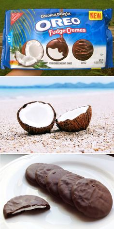 """The coconut fudge oreos sound AMAZING, also fudge oreos are """"better for you"""" according to Eat This Not That. Weird Oreo Flavors, Cookie Flavors, Oreos, Oreo Fudge, Junk Food Snacks, Weird Food, Food Humor, Oreo Cookies, Pop Tarts"""