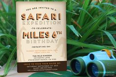 Wanna throw a great Safari party for your little explorer? Check out this super cute invitation!