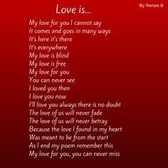 Love is by Renee B beautyschoolscarlet.com