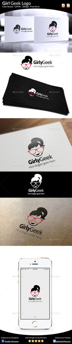 Download this Girl Geek Logo from > http://graphicriver.net/item/girl-geek-logo/9684389?ref=GladicMonster