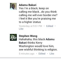Kerry Washington is black.