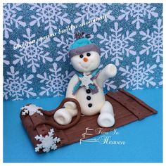 SNOWMAN CAKE TOPPER Snowman Christmas Cake Decorations Christmas Tree Fondant Snowman