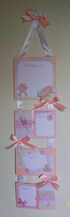 Cartel de Nacimiento para la puerta o la habitaciòn