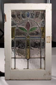 Gorgeous Antique Art Nouveau American Stained Glass Window, Matching ... Antique Stained Glass Windows, Modern Stained Glass, Stained Glass Door, Stained Glass Designs, Stained Glass Panels, Stained Glass Projects, Stained Glass Patterns, Leaded Glass, Mosaic Glass