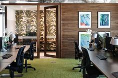 This is probably too much for the basement, but it is a high quality look.  porter-davis-office-design-4