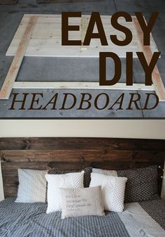 Easy Headboard that anyone can do!  #wood #headboard