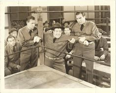 A rare vintage press shot of Hollywood legends Bud Abbott and Lou Costello, with character actor Nat Pendleton, for the 1941 comedy classic, BUCK PRIVATES!