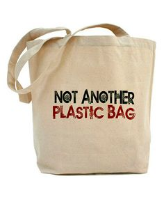 This Natural 'Not Another Plastic Bag' Tote is perfect! #zulilyfinds