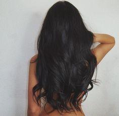 Deep black hair color