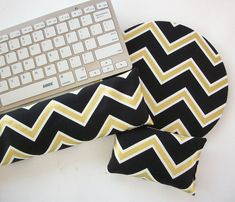 Matching Keyboard WRIST REST for MousePads Pick your by Laa766 chic / cute / preppy / laptop accessory / desk, computer accessory / office decor / gift / patterned design / school