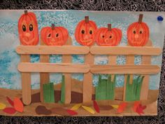 Thanksgiving Crafts, Christmas Crafts, Preschool Crafts, Pumpkin on a Fence