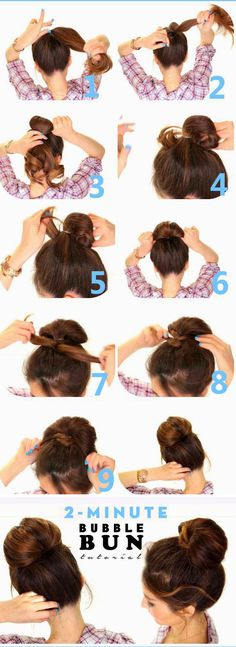 2 Minute Bubble Bun Hairstyle Tutorial - Fashion Is My Petition